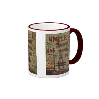 uncle sam has your pin number coffee mugs