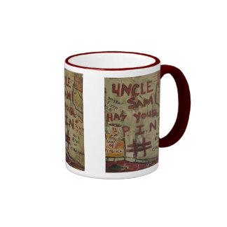 uncle sam has your pin number ringer mug