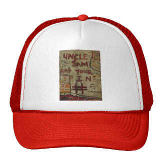 uncle sam has your pin number trucker hat