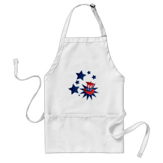 Uncle Sam hat and stars Adult Apron