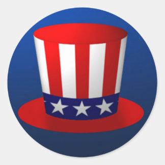 Uncle Sam Hat Classic Round Sticker