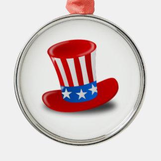 Uncle Sam Hat Christmas Ornaments