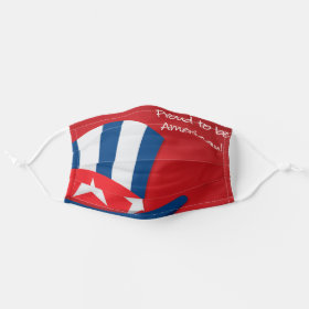Uncle Sam Hat Proud to be American Patriotic USA Cloth Face Mask