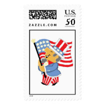 Uncle Sam Holding American Flag Postage