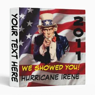 Uncle Sam Hurricane Irene 2011 Survivor Binder