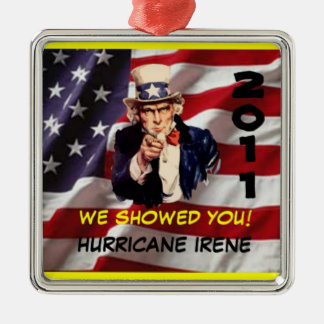 Uncle Sam Hurricane Irene 2011 Survivor Ornament