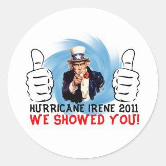 Uncle Sam Hurricane Irene 2011 Survivor Stickers