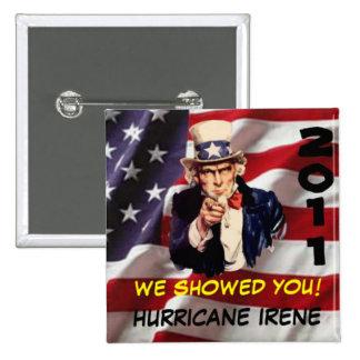 Uncle Sam Hurricane Irene USA Button