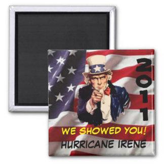 Uncle Sam Hurricane Irene USA Magnet