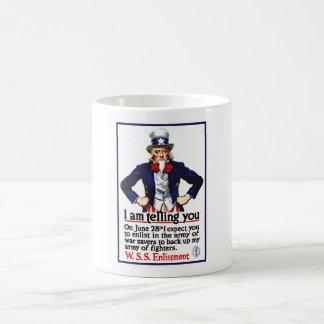 Uncle Sam -- I Am Telling You Classic White Coffee Mug