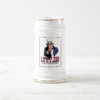 """Uncle Sam """"I Want You"""" 18 Oz Beer Stein"""