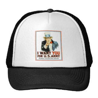 Uncle Sam I Want You Army Trucker Hat