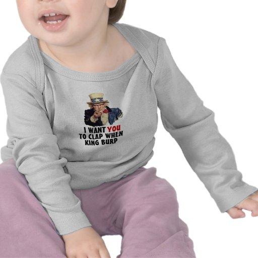 Uncle Sam I Want You Clap When King Burp Kids Tshirt