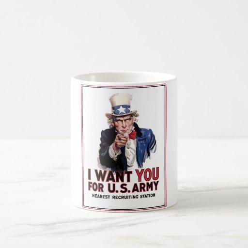 "Uncle Sam ""I Want You"" Classic White Coffee Mug"