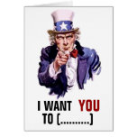 "Uncle Sam ""I Want You"" Customizable Cards"