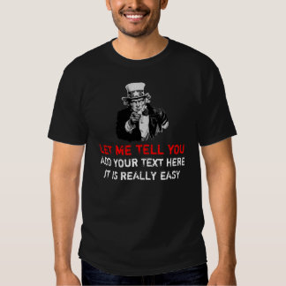 Uncle Sam I Want You Customize Text Template T-Shirt