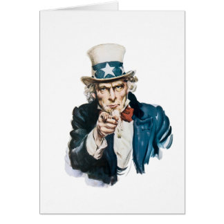 Uncle Sam I Want You Customize With Your Text Card