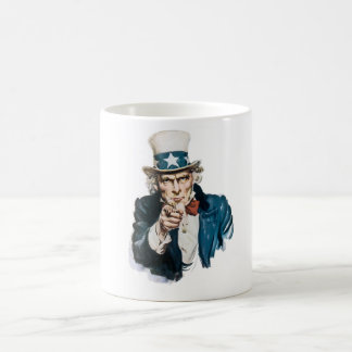 Uncle Sam I Want You Customize With Your Text Coffee Mug