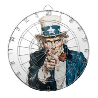 Uncle Sam I Want You Customize With Your Text Dartboard