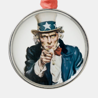 Uncle Sam I Want You Customize With Your Text Ornament