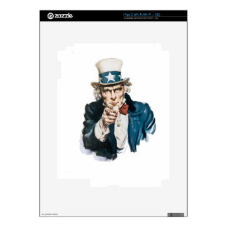 Uncle Sam I Want You Customize With Your Text Decal For iPad 2