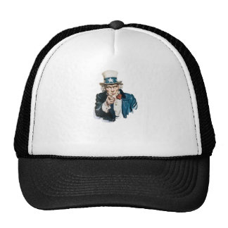 Uncle Sam I Want You Customize With Your Text Trucker Hat
