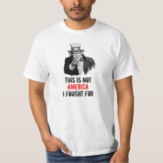 Uncle Sam I Want You Fight For America Template T-Shirt