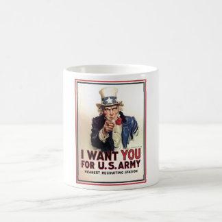 Uncle Sam I Want You For US Army Coffee Mug