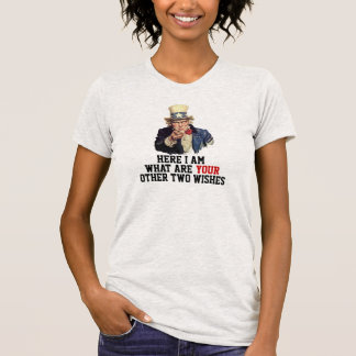 Uncle Sam I Want You Gold Fish Template Funny T-Shirt