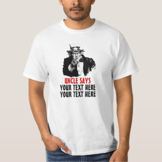 Uncle Sam I Want You Government Make Your Template T-Shirt