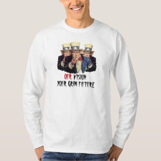 Uncle Sam I Want You Government Template Funny T-Shirt