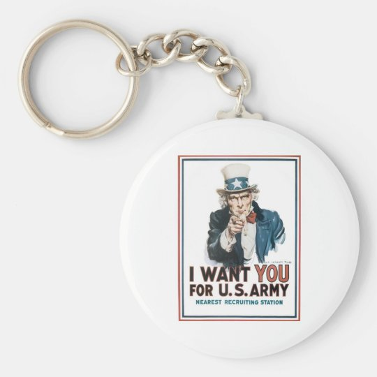 "Uncle Sam ""I Want YOU!"" Keychain"