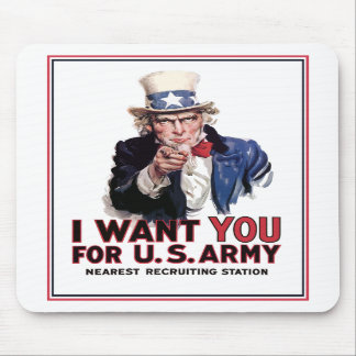 "Uncle Sam ""I Want You"" Mousepad"