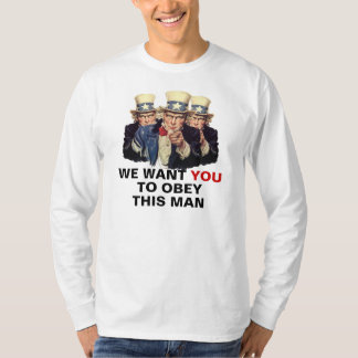 Uncle Sam I want You Obey This Man Shirt Template