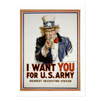 Uncle Sam - I Want You Postcards