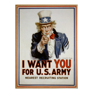 Uncle Sam - I Want You Poster