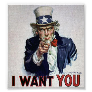 Uncle Sam I want You Poster