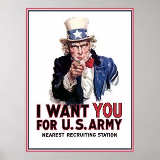 "Uncle Sam ""I Want You"" Print"