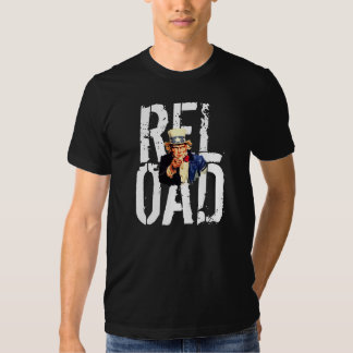 Uncle Sam I Want You Reload Funny Template T-Shirt
