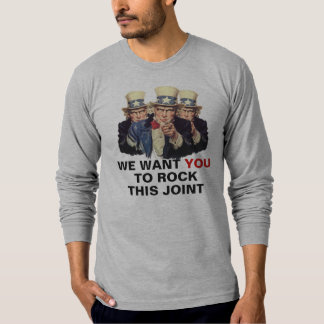 Uncle Sam I want You Rock Joint Shirt Template