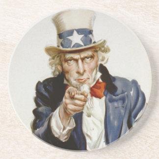 Uncle Sam - I Want You Sandstone Coaster