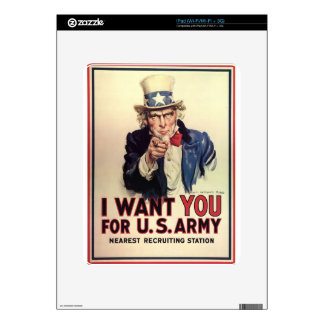 Uncle Sam - I Want You Skin For The iPad