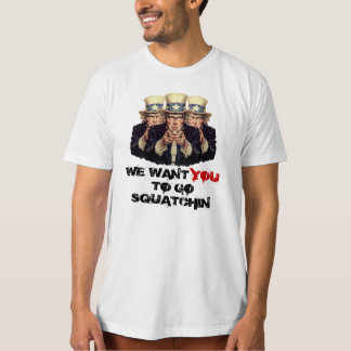 Uncle Sam I want You To Go Squatchin Template T-Shirt