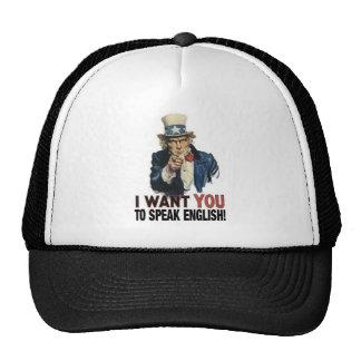 Uncle Sam - I WANT YOU TO SPEAK ENGLISH! Hat