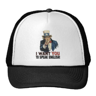 Uncle Sam - I WANT YOU TO SPEAK ENGLISH! Trucker Hat