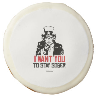 Uncle Sam - I want you to stay sober Sugar Cookie