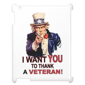 Uncle Sam I Want You To Thank A Veteran iPad Case