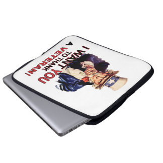 Uncle Sam I Want You To Thank A Veteran Laptop Laptop Sleeve