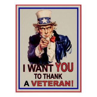 Uncle Sam I Want You To Thank A Veteran Poster
