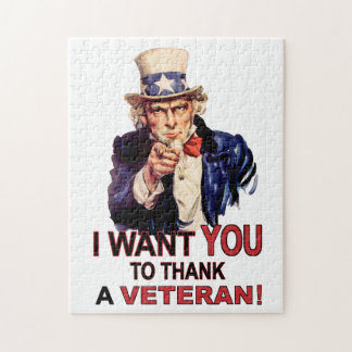 Uncle Sam I Want You To Thank A Veteran Puzzle
